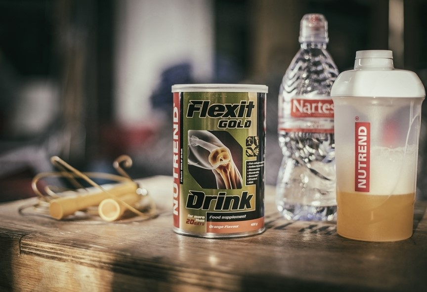 FLEXIT DRINK GOLD 400g. Ar Apelsīna garšu